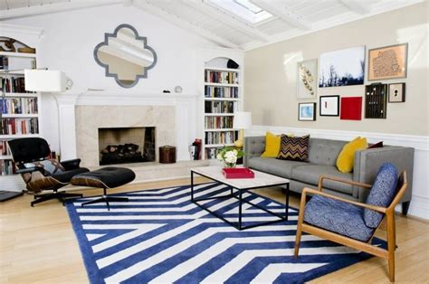 Striped Rug In Living Room : 10 Impressive Living Room Designs With Striped Area Rug