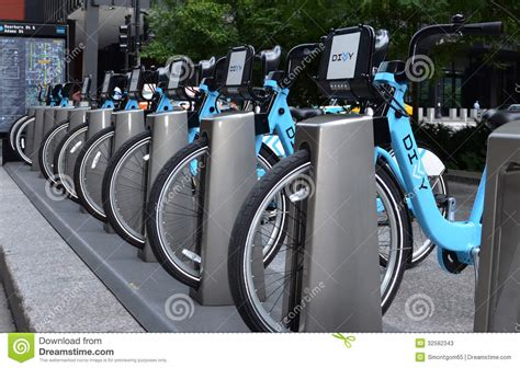Divvy Bike Rental Station In Chicago Editorial Stock Photo