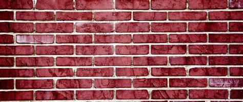 Download Wallpaper 2560x1080 Brick Wall Red Texture
