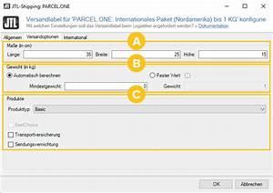 Maximalgewicht Berechnen : parcel one versandlabel konfigurieren jtl guide ~ Themetempest.com Abrechnung