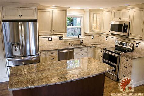 crema bordeaux granite kitchen studio