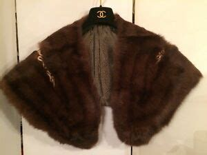 foto de Vintage Unused Genuine STONE MARTEN FUR Stole Wrap Collar
