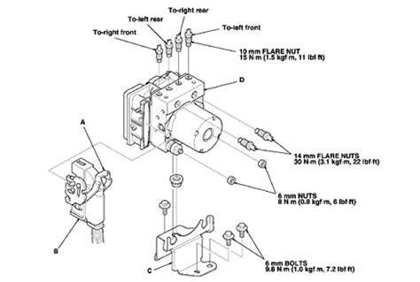 repair anti lock braking 2006 honda accord transmission control repair guides anti lock brake system abs abs modulator control unit autozone com