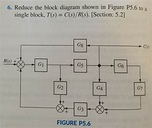 Solved  6  Reduce The Block Diagram Shown In Figure P5 6 T