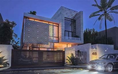 Architecture Villas Girih Villa Facade Extraordinary Paysage