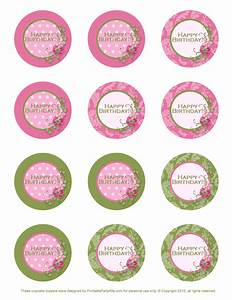 Cupcake Topper Template Free images