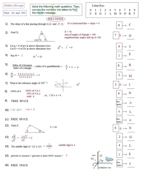 Act Math Test Worksheets Printable Act Best Free Printable Worksheets