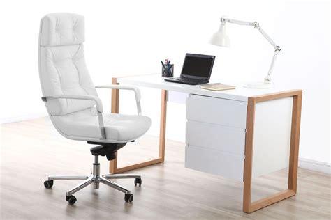 fauteuil bureau cuir blanc fauteuil de bureau cuir blanc adagio cuir de buffle