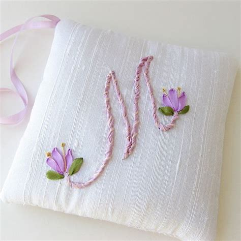 ribbon embroidery tutorial  patterns stitch piece  purl