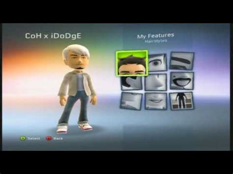 xbox  avatar  secret hairstyle colors youtube