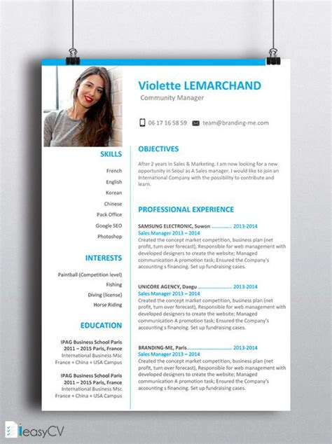 Resume Friendly Words by 16 Best Images About Template Cv On