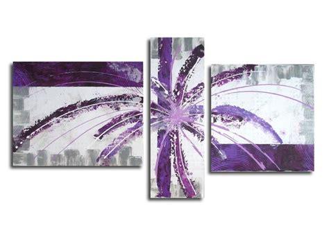 violet tableau tableau peinture peinture violet mauve blanc tableau triptyque