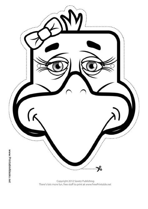 eagle bow mask outline template printable