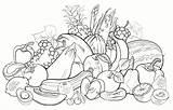 Coloring Pages Fruit Fruits Vegetables Vegetable Fresh Food Coloringpagesfortoddlers Veggies Legumes sketch template
