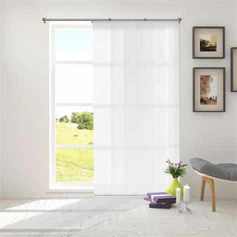 light filtering privacy curtains chicology adjustable sliding panel cut to length