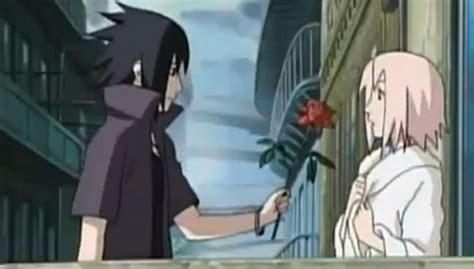 sasuke handing sakura  rose  pinky  deviantart