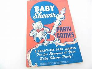 vintage baby shower game book 194039s baby shower party With baby shower game booklet template