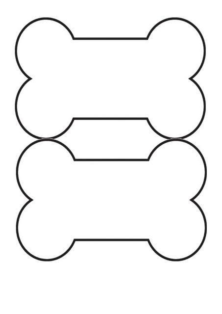 printable dog bone template   dog template