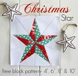threadbare creations christmas star free quilt block pattern