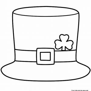 printable leprechaun hat coloring page for kidsfree With leprechaun hat template printable