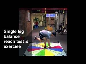 Single Leg Balance Reach Test & Exercise - YouTube