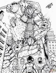 Godzilla Neo vs. Rdc S Gamera coloring page | Free ...