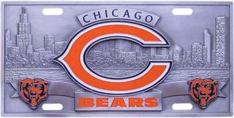 chicago bears license plates nfl license plates