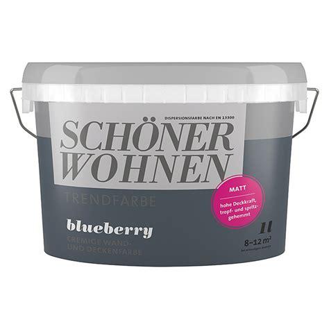 Schöner Wohnen Beratung by Sch 246 Ner Wohnen Wandfarbe Trendfarbe Blueberry 1 L Matt