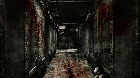 Background Scary by Hallway Wallpaper And Background Image 1600x900 Id
