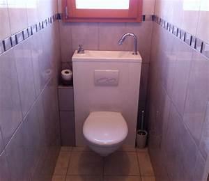 Lave Main Suspendu : wc suspendu avec vasque galerie page 5 ~ Nature-et-papiers.com Idées de Décoration