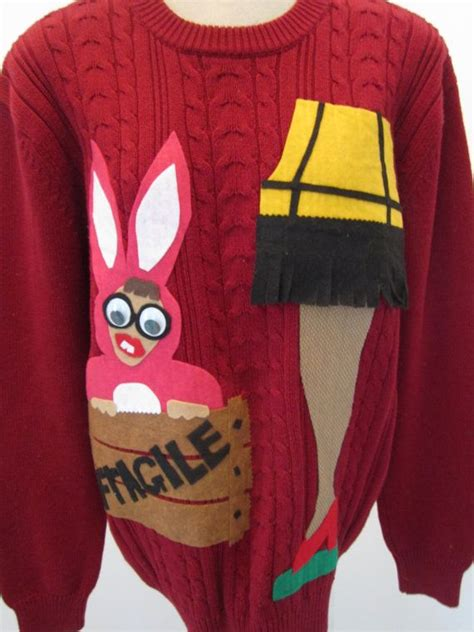 leg l sweater sweater hilarious story themed repurposed