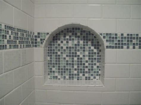 Bathroom Showrooms Great Yarmouth by Glass Arched Shower Niche Mosaic Bathroom New York