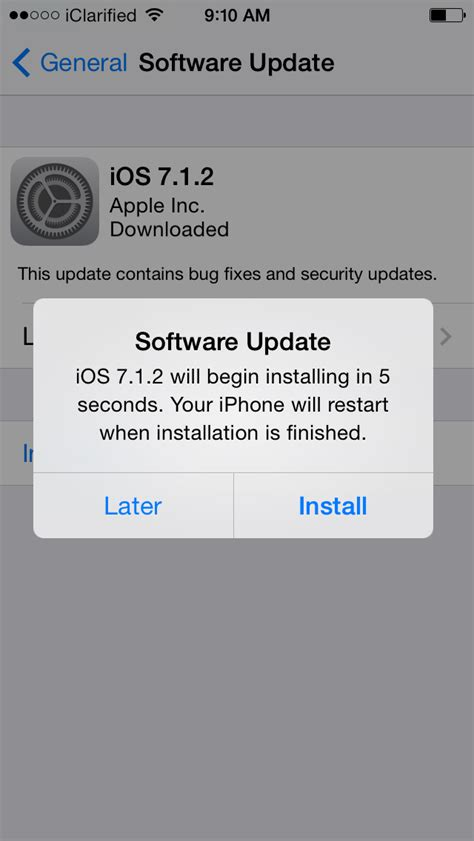 how to update your iphone to the version of ios