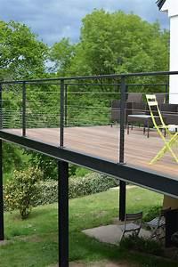 Terrasses En Vue : vue de la terrasse en bois sur lev e termin e terrasse ~ Melissatoandfro.com Idées de Décoration