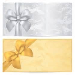 gutschein design gutschein geschenkgutschein gutschein vorlage alte muster mit gold bogen silbernem