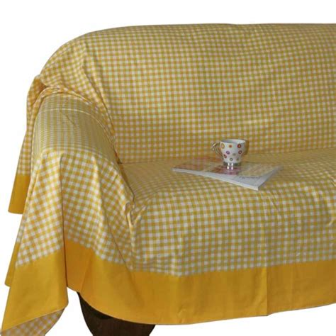 Settee Throws Uk by Gingham Check Large Cotton Sofa Throw Bed Covers