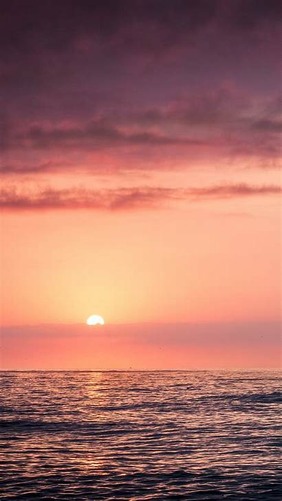 Sunset Sky Beach Sea Iphone Wallpapers Se
