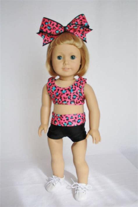 cheerleader sports bra  shorts  american girl