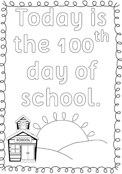 100th Day Of School Crown Template by 8 Best Images Of 100th Day Coloring Worksheets Printable