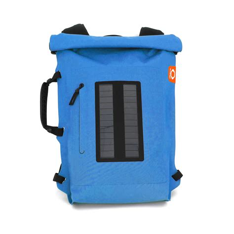 solar backpack roll top turquoise o range touch of modern