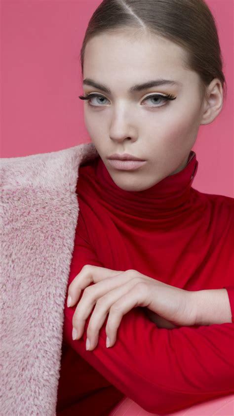 Wallpaper Kasia Bielska, Top Fashion Models, model, pink ...