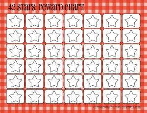 Positive Behavior Charts For Toddlers Plaid Reward Charts 42 Stars Free Printable Downloads