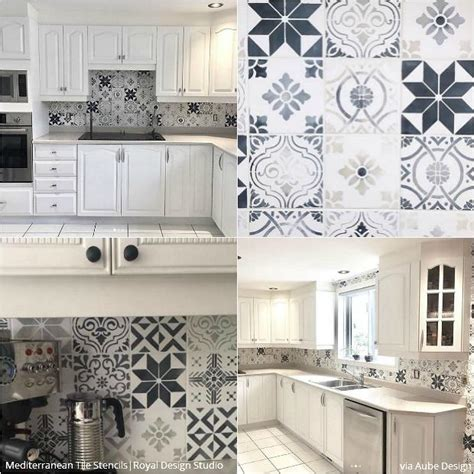 kitchen tile stencils 12 stunning ideas for stenciling a diy kitchen backsplash 3289