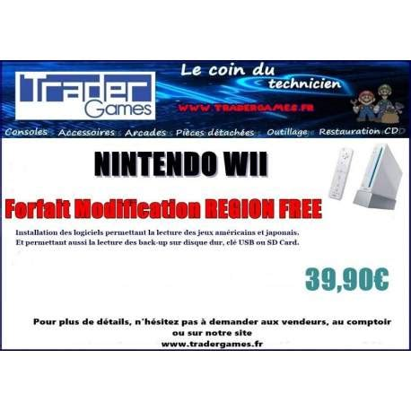 Modification Wii by Achat Forfait Modification Nintendo Wii Region Free