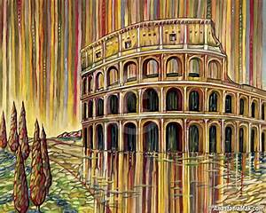 Roman Colosseum painting - by Anastasia Mak
