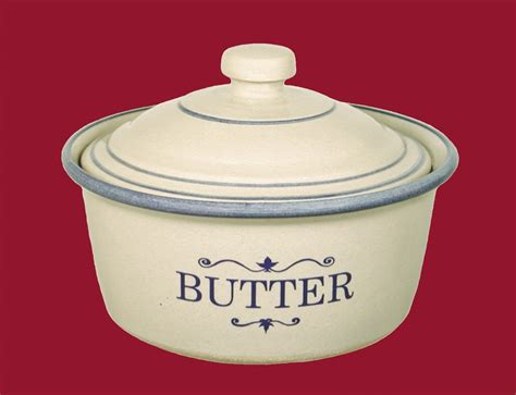 butter crock  lid red wing stoneware pottery