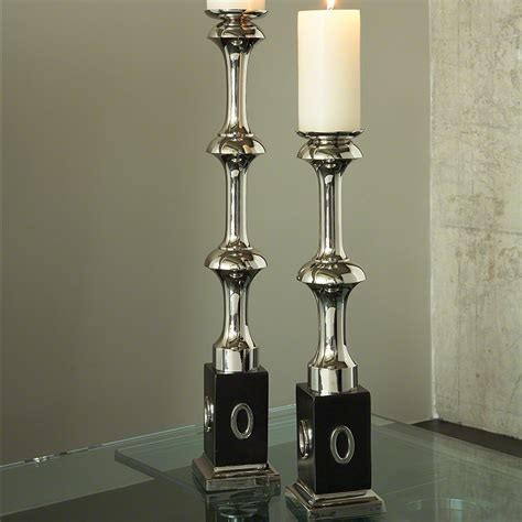 modern candle holders global views modern candle holder large