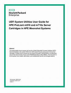 Uefi System Utilities User Guide For Hpe Proliant M510 And