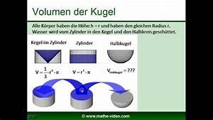 Kugel Berechnen Formel : kugel volumen oberfl che herleitung der formeln tobias gnad youtube ~ Themetempest.com Abrechnung