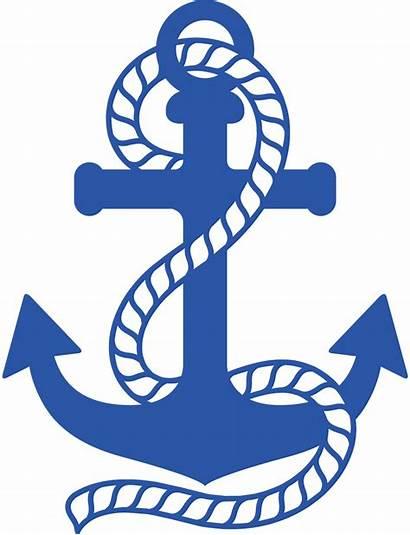 Anchor Silhouette Clipart Transparent Nautical Minus Clip